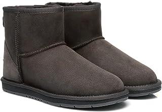 UGG Boots Mini Classic Premium Australian Sheepskin Water Resistant Ankle Shoes, Chocolate - AU Ladies 8/ AU Men 6/ EU39