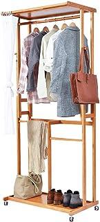 Caisses De Rangement Boîte De Rangement Porte-manteau, portemanteau en bois multifonctions, chambre Hanger étage de stocka...
