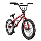 Mongoose Legion L10 Freestyle BMX Bike for Beginner-Level Riders, Featuring Hi-Ten Steel Frame and Micro Drive 25x9T BMX Gearing with 20-Inch Wheels, Red (Renewed)