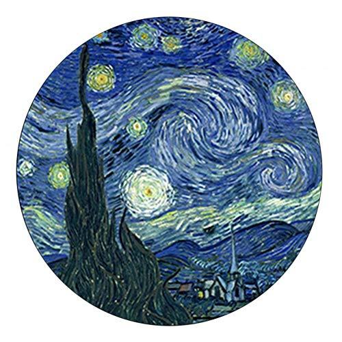 """Briefbeschwerer mit Van Gogh-Motiv """"Sternennacht"""" aus gewölbtem Glas"""