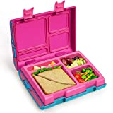 Bento Box for Kids, Lunch Containers with 4 Compartments for Meal and Snack Packing, Removable Tray...