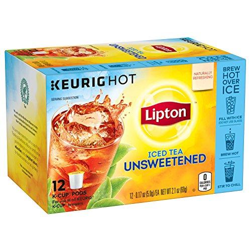 Lipton Iced Black Tea, Unsweetened K Cups Pods, 12 ct