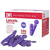 Ever Ready First Aid Twist-Cap Lancets 30G Purple - 500 Count
