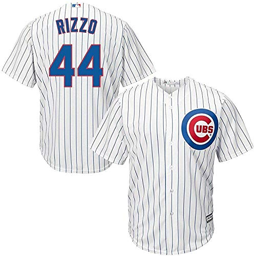 Majestic Anthony Rizzo Chicago Cubs MLB Kids White Home Cool Base Replica Jersey (Size 5/6)