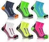 Sesto Senso Sport Socken Damen Herren 3-12 Paar Bunte Baumwolle Sportsocken Laufsocken Graphit Grau Grün Neon Türkis Weiß Gelb Rosa 35-38 6 Pack mix