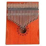 flybiz kalimba 21 tasti-strumento per pianoforte a pollice in mogano, portatile professionale pianoforte, con accessori e istruzione e martello, in legno africano, per bambini, adulti e principianti