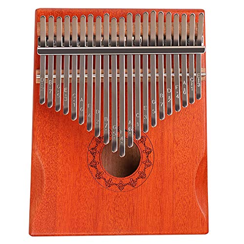 Flybiz 21 Schlüssel Kalimba Daumenklavier, Mahagoni Finger Klavier mit Lernanleitung und Stimmhammer, Mini Thumb Piano Kalimba Instrument, Marimba Musik Geschenk für Anfänger, Kinder, Erwachsene