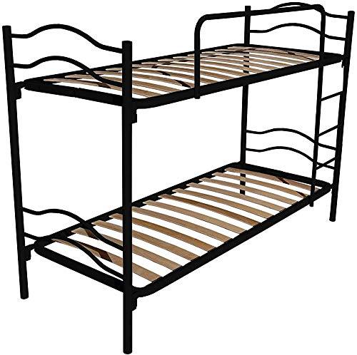 Etagenbett, kann in 2 Einzelbetten unterteilt werden, mit Leiter und Anti-Hebeln mit 2 Achsen,Black