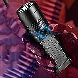 FEE-ZC Torcia Portatile Leggera a Luce vivida LED da 4600 Lumen, Tattica Impermeabile all'aperto a Lungo Raggio Super Luminosa Ricaricabile Alta concentrazione
