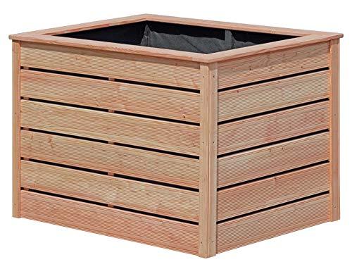 Gartenpirat Hochbeet Lärche 125x85x80 DIY - Bausatz mit Lärchenholz geriffelt