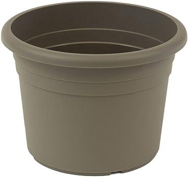 greemotion Pot de fleurs rond en plastique Ø 25cm 5L - Pot pour plantes extérieures et intérieures - Pot de jardin couleur ta