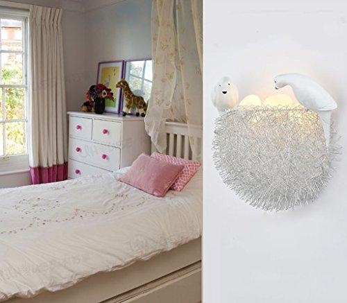 Lily's-uk Love Nid d'oiseau LED Mur de protection oculaire Chambre d'enfants Chambre à coucher Décoration de chevet Nid d'oiseau créatif Art personnalisé Éclairage