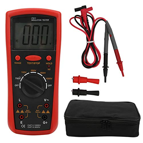 Clamp Meter,IT811 Insulation Resistance Meter with LCD Display Digital Megohm Tester Electrical Tools