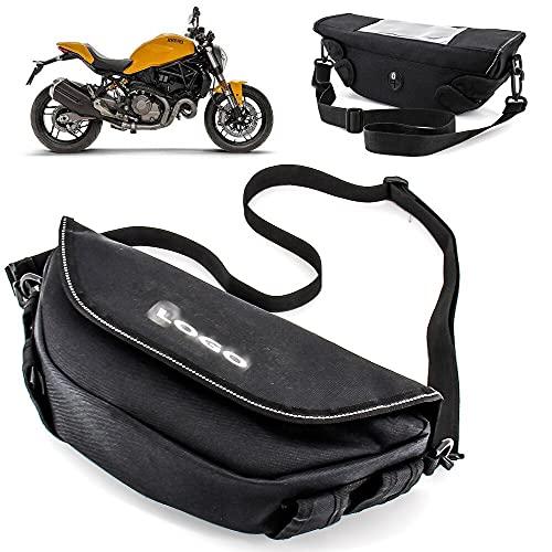 HWH Motocicleta impermeable Racing Race Bolsas de viaje Maleta Saddlebags and Manillar Bag para du.ca.ti MO.NS.TER 797 MULSTistrada 1200 1260 Durable