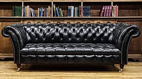 JVmoebel Chesterfield Design Polster Couch Leder Sofa Garnitur Luxus Vintage Sofas #133