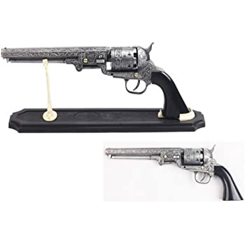 Vortex Blade Shop Decorative US Western Revolver with Display Stand, 13-Inch Overall