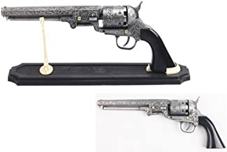 Decorative Western Revolver with Display Stand, 13-Inch Overall