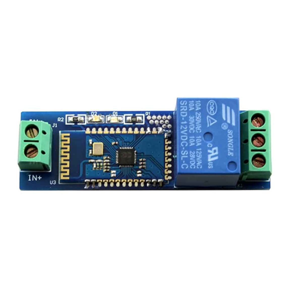 Topker Smartphone Cell Mobile Phone Remote Control Switch Iot Bluetooth 12V Relay Module with Indicator Light