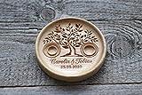 """Porta Fedi in legno, Cuscino anelli matrimonio legno, Cuscino anello nuziale rustico, Portafedi scatola Personalizzato"""" Albero della vita"""",""""Tree of Life"""""""