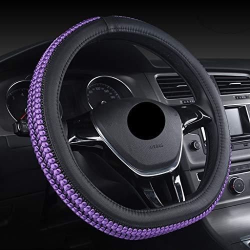 CarFXPD Lenkradschutz, Lenkradbezug Universal-15-Zoll-Lenkrad-Verpackungs-Eis-Silk Gewebe atmungsaktiv Lenkrad-Schutz (Color : Purple)