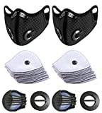 2pcs Bike Face Cover with 10pcs Filter Anti Dust Safety Men Women Pollution