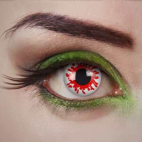 aricona lentes de contacto de colores - lentillas diarias  Bloody Mary - lentes de contacto rojo-blanco