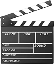 Movie Film Clap Board, Hollywood Clapper Board Wooden Film Movie Clapboard Accessory with..
