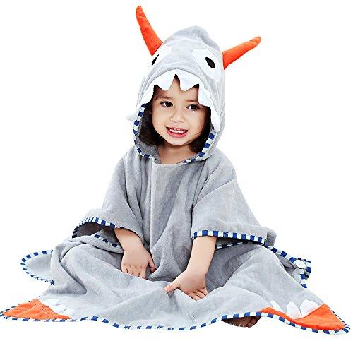 JYSP Baby Kinderen Kids Hooded Handdoek Leuke Dier 100% Premium Katoen Strand Zwembad Badhanddoek voor Jongens en Meisjes 70*140cm/27.5*55.1inch Hoorn