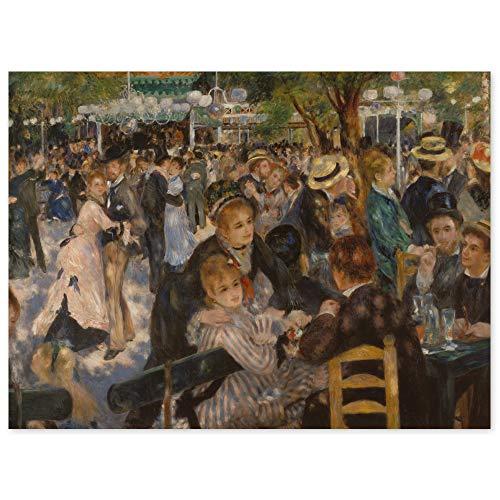 JUNIWORDS Poster, Pierre Auguste Renoir, Bal du moulin de la Galette, Ball im Restaurant Moulin de la Galette auf dem Montmartre, 55 x 40 cm