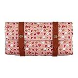 Snykk Filz-Tasche Druckknöpfe für Kosmetik Stifte Tabak Vegan mit Erdbeer-Muster rosa pink weiß