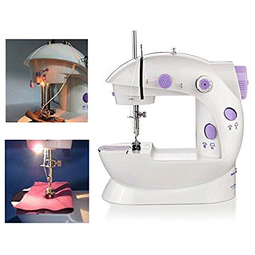 Nynel Mini Machine à Coudre Double Vitesse Réglable AC100-240V Multifonctionnel Ménage Machine à Coudre pour...
