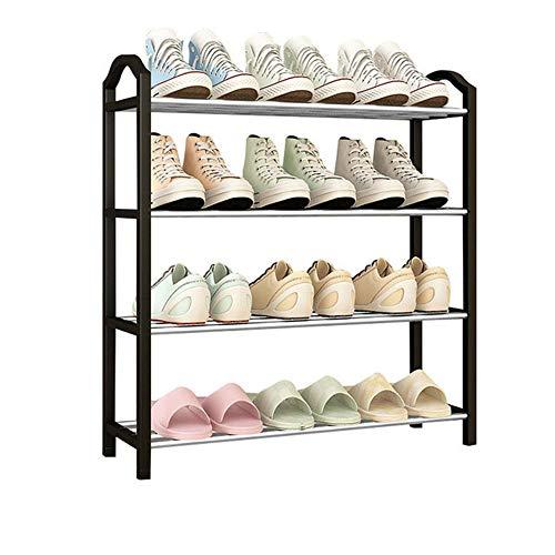 Yuan Ou schoenenrek schoenenrek schoenenkast gang schoenenbank 4-laags metaal- voor deur ingang slaapkamer rek