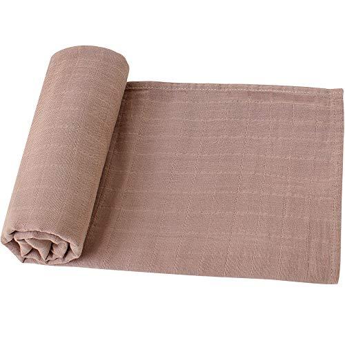 LifeTree Baby Musselin Swaddle Decke Tücher - 120x120cm 100% Bio Baumwolle Baby Pucktücher für Junge und Mädchen