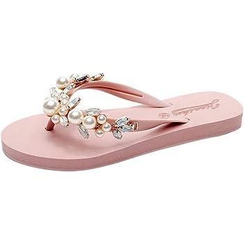 Neu Damen Transparent Sandalen Slip On Flach Hausschuhe Sommerschuhe Flip Flops
