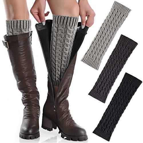 Hotelvs 3 Paar Damen Legwarmer Themal Winter Bein Stulpen Warme Beinstulpen Strick Gestrickte Beinwärmer