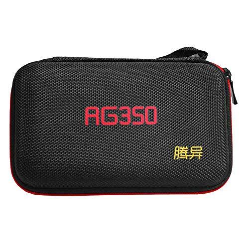 hehsd0 Spielkonsolentasche, Reisetasche, Netztasche, Hartschalen-EVA, mit Umhängeband, Schutzhülle, wasserdicht, tragbar, Aufbewahrung, Retro für RG350