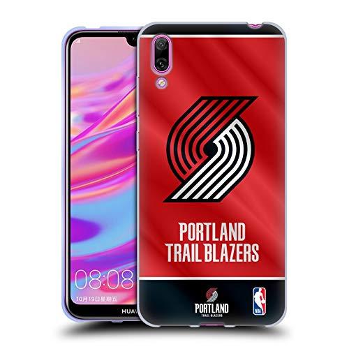 Officiële NBA Vaanjager 2019/20 Portland Trail Blazers Soft Gel Case Compatibel voor Huawei Enjoy 9 (2018)