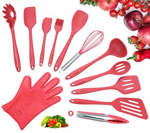 Utensilios De Cocina De Silicona Rojo Marca Crucible Cookware