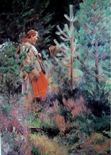 Pintura por números para adultos DIY pintura al óleo Anders Zorn jardín mujer pintura por números Kits de pintura lienzo decoración regalo
