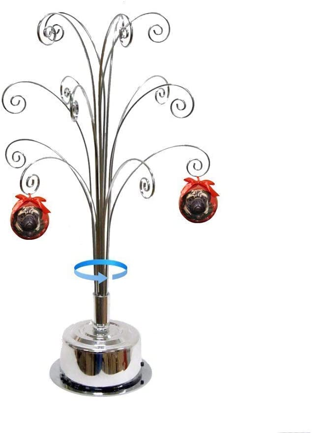 HOHIYA Metal Ornament Display NEW before selling Tree Stand Gift Rotating Ornaments Surprise price
