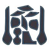 Hcxh-A Taza de tragamonedas de la Puerta Antideslizante para Nissan Leaf 2017 2018 2019 Accesorios Accesorios Groove de la Puerta Pastilla Antideslizante Roster de Goma (Color : USA Leaf Blue)