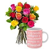 Florclick - Pack Maestra- Ramo de flores naturales en 24 horas y envío GRATIS