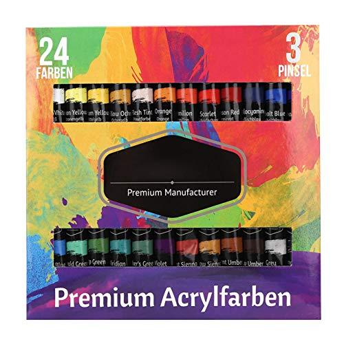 Wosune Pigmenti per Pittura, Materiali artistici Pigmenti acrilici, per Studenti Principianti(24 Colors, Polar Animals)