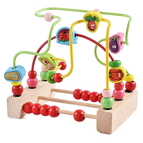 JenLn Actividad de Juguetes de Cubo Preescolar Ejecutivo Educativo Toy Bead Maze Toy Roller Roller Coster Regalo para niños Niños Boys Girls Juguetes de Aprendizaje Preescolar