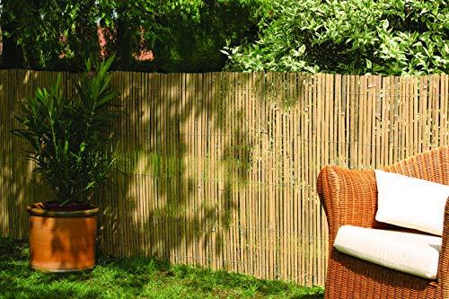 Robuster Sichtschutz Zaun Bambus CALAMA extra gehärtet von DE-Commerce® Balkonsichtschutz Trennwand für Garten,Terrasse,Balkon (HxB) 150 x 500 cm