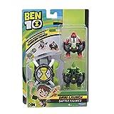 Giochi Preziosi - Ben 10 DuexDue e Vite Elastica Lanciatore Omnitrix con 2 Personaggi Trasformabili, Multicolore, BEN22600
