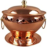 F.L.S Parrilla Eléctrica Portátil De Cobre Puro Extra Gruesa Alcohol Pot Chinese Traditional Old Beijing Hot Pot 20 cm de diámetro Grande de Cook Tradicional Cocina for Restaurante