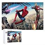 GD-SJK Marvel Spider-Man - Puzzle 3D de 1000 piezas, puzle Creative Classic para adultos y niños, regalo para niños (75 x 50 cm, Spider-Man)