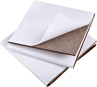 "Pllieay 2 Pieces Brown Self Adhesive Felt Sheets (5.9"" x 17.7"") Furniture Felt Pads for Protecting Furniture, Hard Surface..."