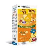 Arkopharma Vitamina C&D3 + Zinc 20 Comprimidos Efervescentes X2, Asociación de vitaminas más potente del mercado, Refuerzo Sistema Inmune, Huesos, Menopausia